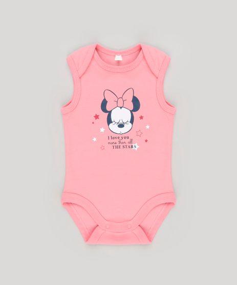 Body-Infantil-Minnie-Regata-Decote-Redondo-em-Algodao---Sustentavel-Rosa-8921682-Rosa_1