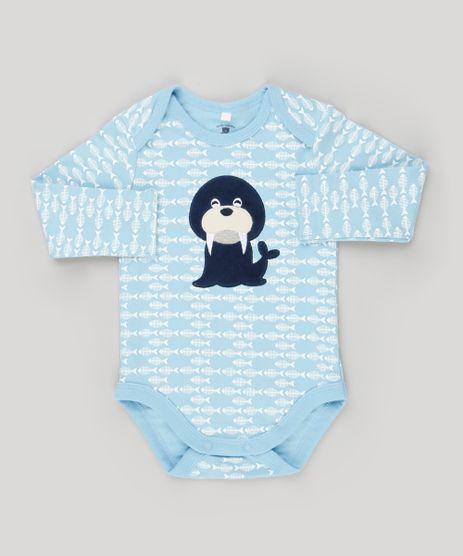 Body-Infantil-Estampado-Leao-Marinho-Manga-Longa-Gola-Redonda-em-Algodao---Sustentavel-Azul-Claro-8934394-Azul_Claro_1