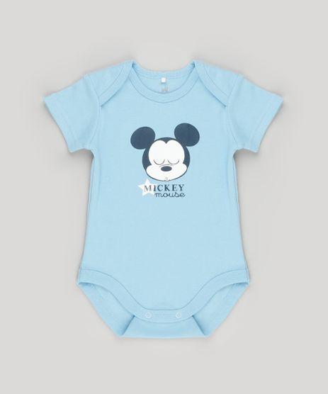 Body-Infantil-Mickey-Manga-Curta-Decote-Redondo-em-Algodao---Sustentavel-Azul-Claro-8921685-Azul_Claro_1