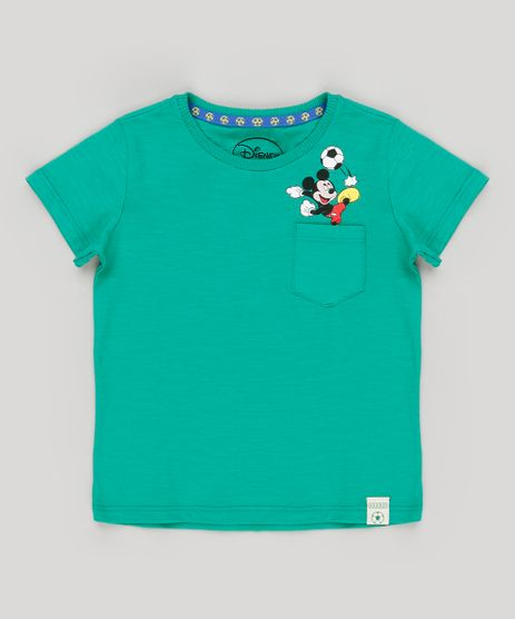 Camiseta-Infantil-Brasil-Mickey-com-Bolso-Manga-Curta-Gola-Careca-Verde-9157641-Verde_1