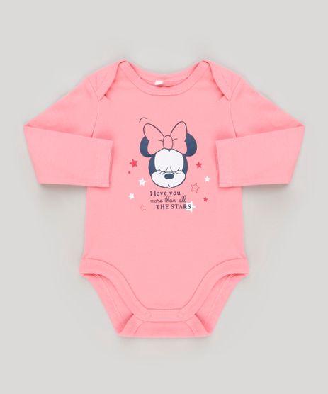 Body-Infantil-Minnie-Manga-Longa-Decote-Redondo-em-Algodao---Sustentavel-Rosa-8920317-Rosa_1