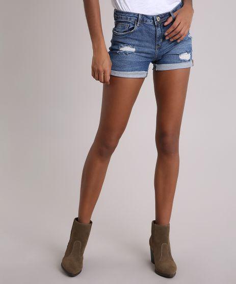 Short-Jeans-Feminino-Reto-Destroyed-com-Bandana-Azul-Escuro-9116265-Azul_Escuro_1