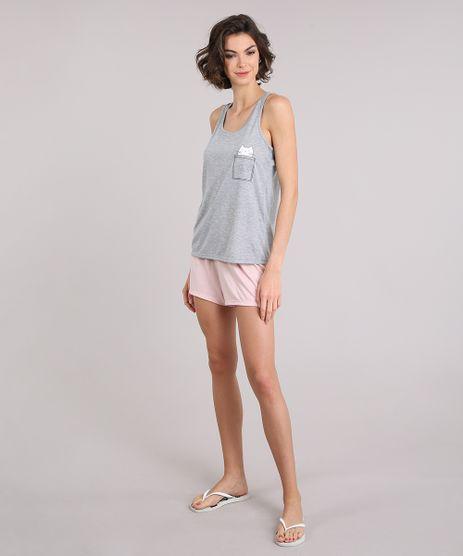 Pijama-Feminino--Meow---Cinza-Mescla-9123177-Cinza_Mescla_1