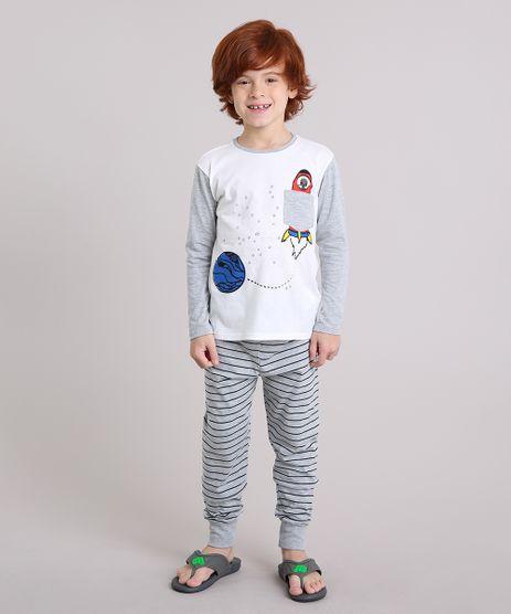Pijama-Infantil-com-Estampa-Espacial-que-Brilha-no-Escuro-com-Bolso-Manga-Longa-Off-White-9133162-Off_White_1