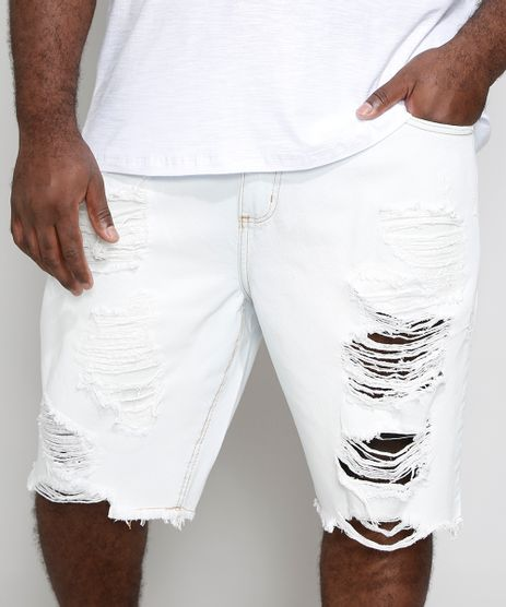 Bermuda-Jeans-Masculina-Plus-Size-Tradicional-Destroyed-Azul-Claro-9974803-Azul_Claro_1