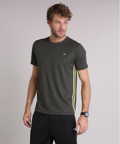 71803fa7c8 Camiseta Masculina Esportiva Ace Dry Technofit Manga Curta Gola ...