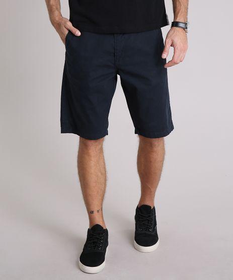 Bermuda-Sarja-Masculina-Reta-com-Bolsos-Azul-Marinho-9040678-Azul_Marinho_1