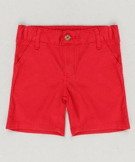 Bermuda-Color-Infantil-Reta-em-Algodao---Sustentavel-Vermelha-8277086-Vermelho_1