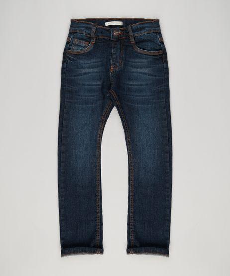 Calca-Jeans-Infantil-com-Retalho-Xadrez-Azul-Escuro-9150023-Azul_Escuro_1
