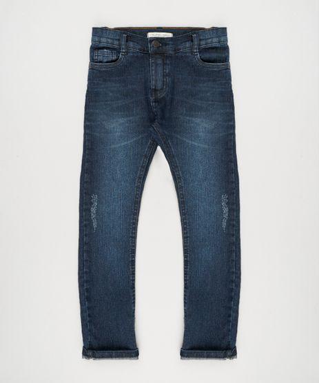Calca-Jeans-Infantil-com-Puidos-Azul-Escuro-9150730-Azul_Escuro_1