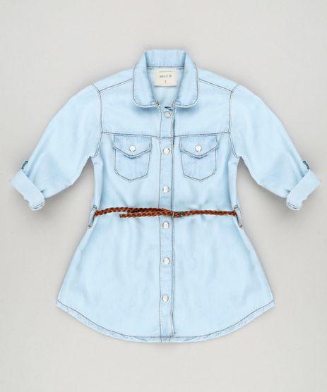 Vestido-Chemise-Jeans-Infantil-com-Cinto-Trancado-Azul-Claro-9170302-Azul_Claro_1