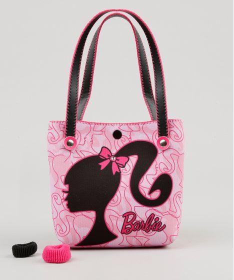 82e73121351fa Bolsa Infantil Barbie + Elásticos de Cabelo Rosa - cea