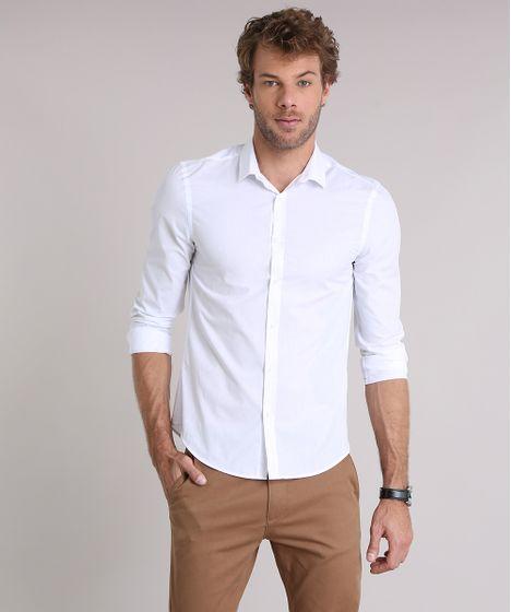 0955d7dea23747 Camisa-Masculina-Slim-Manga-Longa-Branca-7967961-Branco_1 ...