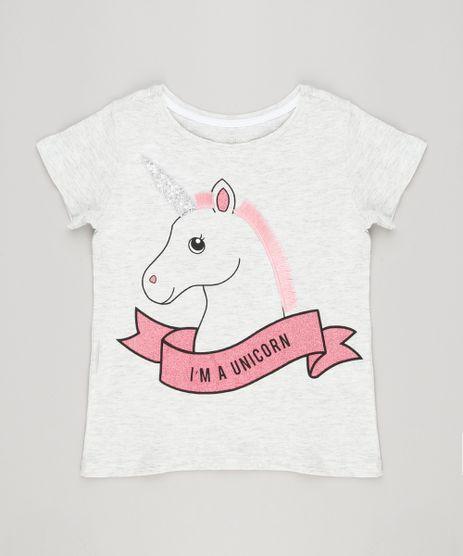 Blusa-Infantil-Unicornio-Manga-Curta-Decote-Redondo-Cinza-Mescla-Claro-9116085-Cinza_Mescla_Claro_1