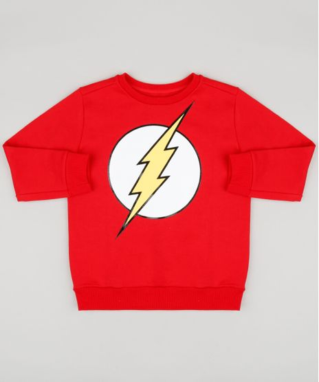 Blusao-Infantil-The-Flash-em-Moletom-Gola-Careca-Manga-Longa-Vermelho-9170873-Vermelho_1