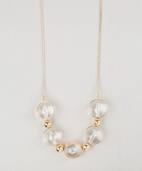Colar-Feminino-com-Pingentes-de-Argola-e-Esfera-Dourado-9029807-Dourado_1