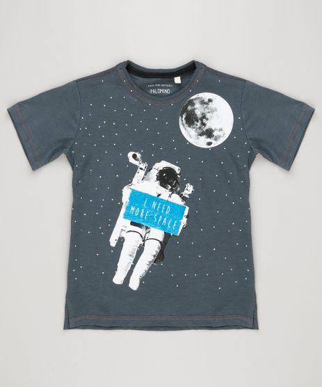Camiseta-Infantil-Astronauta--I-Need-More-Space--Manga-Curta-Gola-Careca-Chumbo-9183621-Chumbo_1