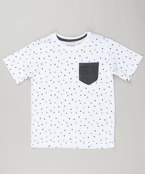 Camiseta-Infantil-Estampada-de-Triangulos-com-Bolso-Manga-Curta-Gola-Careca-Off-White-9148097-Off_White_1