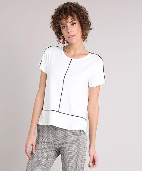 Blusa-Feminina-com-Vivo-Contrastante-Manga-Curta-Decote-Redondo-Off-White-9126987-Off_White_1