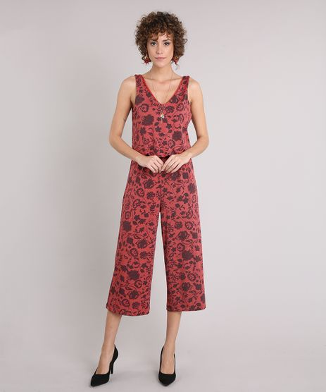 Macacao-Feminino-Pantacourt-Floral-Regata-Decote-V-Laranja-9216699-Laranja_1
