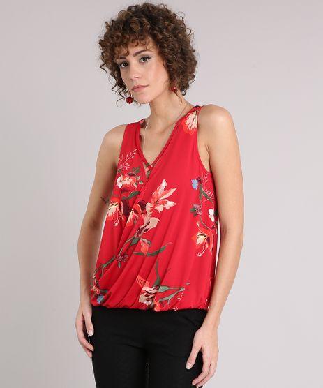 Regata-Feminina-Floral-Transpassada-com-Tiras-Decote-V-Vermelha-9126979-Vermelho_1