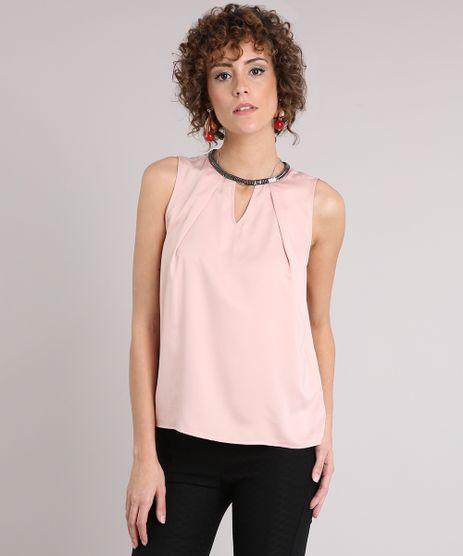 Regata-Feminina-Acetinada-com-Corrente-Decote-Redondo-Rose-8899237-Rose_1