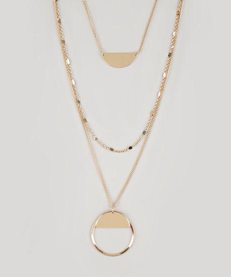 Colar-Feminino-Triplo-com-Argola-e-Pingentes-Dourado-9029879-Dourado_1