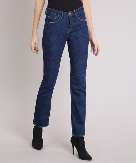 Calca-Jeans-Feminina-Reta-Cintura-Alta-Azul-Escuro-9195854-Azul_Escuro_1