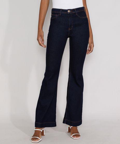 Calca-Jeans-Feminina-Cintura-Alta-Flare-Azul-Escuro-9978762-Azul_Escuro_1
