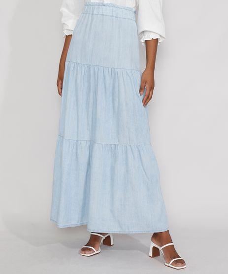 Saia-Jeans-Feminina-Longa-com-Recortes-Azul-Claro-9985783-Azul_Claro_1