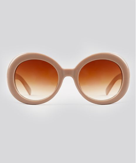 Oculos-de-Sol-Redondo-Feminino-Oneself-Bege-9239805-Bege_1