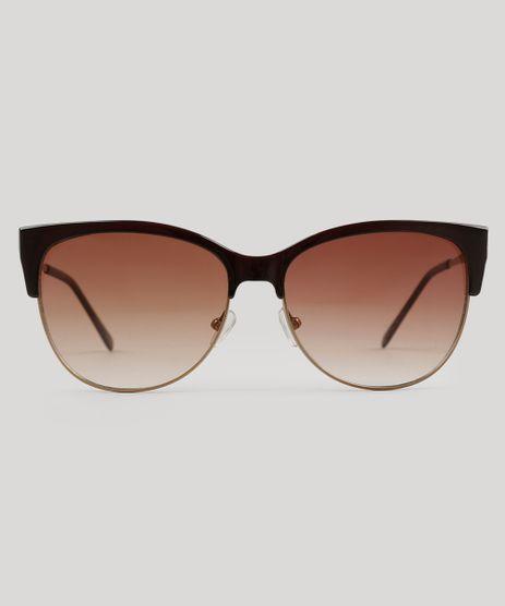 Oculos-de-Sol-Redondo-Feminino-Oneself-Marrom-8842406-Marrom_1