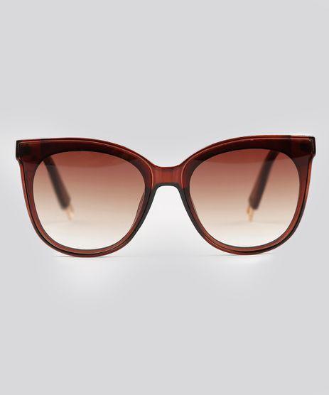 Oculos-de-Sol-Redondo-Feminino-Oneself-Marrom-9224801-Marrom_1