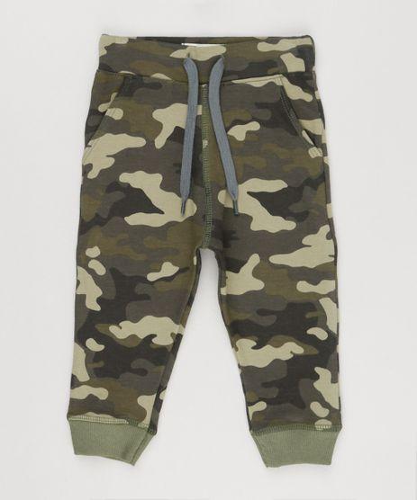 Calca-Infantil-Estampada-Camuflada-com-Bolsos-Verde-Militar-9155125-Verde_Militar_1