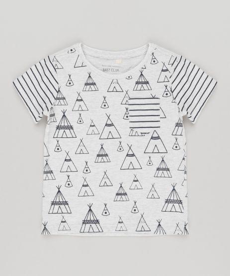 Camiseta-Infantil-com-Estampa-Manga-Curta-Gola-Careca-Cinza-Mescla-Claro-9140474-Cinza_Mescla_Claro_1