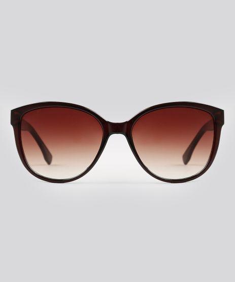 Oculos-de-Sol-Redondo-Feminino-Oneself-Marrom-9224792-Marrom_1