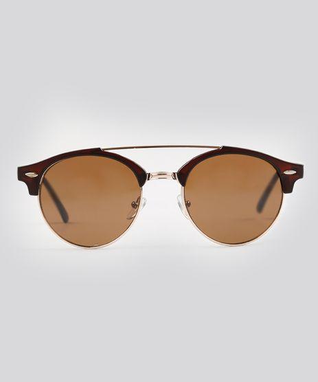Oculos-de-Sol-Redondo-Feminino-Oneself-Marrom-9239760-Marrom_1