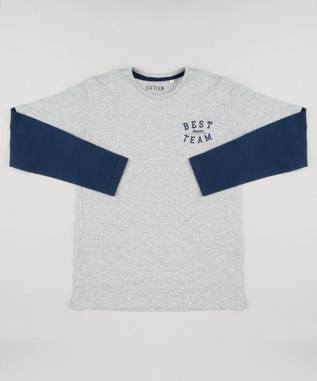 Camiseta-Infantil--Best-Team--Manga-Longa-Gola-Careca-Cinza-Mescla-9148692-Cinza_Mescla_1