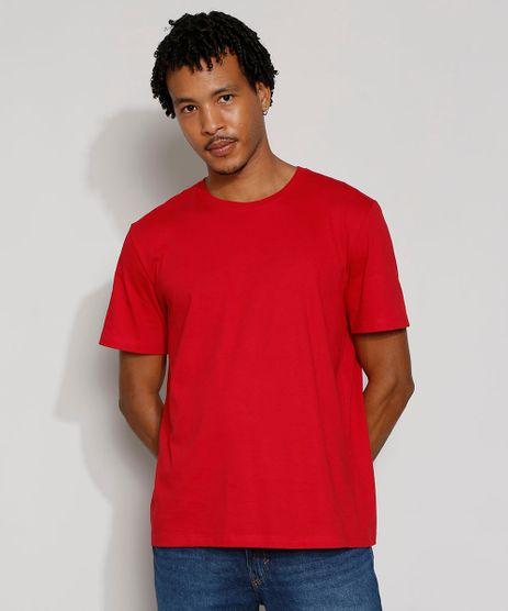 Camiseta-Masculina-Manga-Curta-Basica-Gola-Careca-Vermelha-8472740-Vermelho_1
