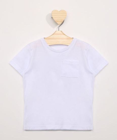 Camiseta-Infantil-com-Bolso-Manga-Curta-Gola-Careca-Branca-8574313-Branco_1