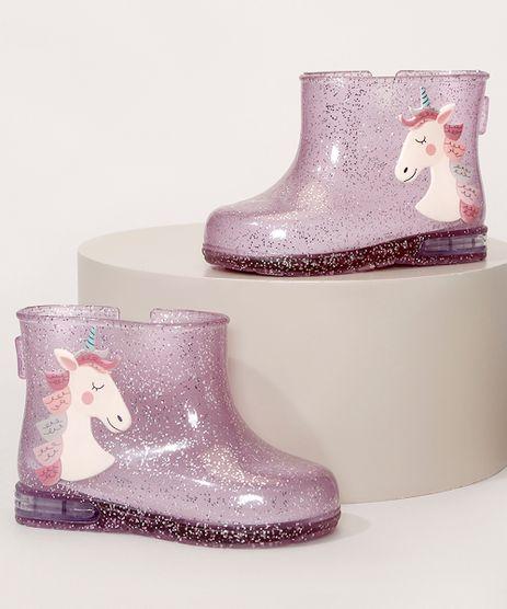 Galocha-Infantil-com-Glitter-Unicornio-Transparente-9987716-Transparente_1