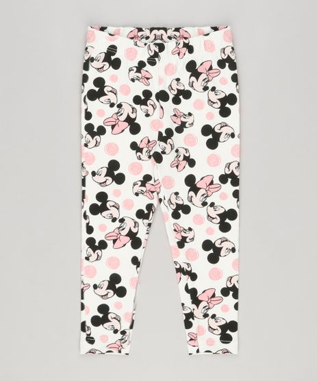 Calca-Legging-Infantil-Estampada-Minnie-em-Algodao---Sustentavel-Off-White-9157092-Off_White_1