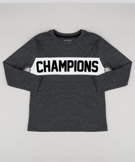 Camiseta-Infantil--Champions--Manga-Longa-Gola-Careca-Cinza-Mescla-Escuro-9139978-Cinza_Mescla_Escuro_1