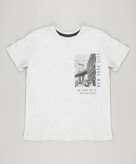 Camiseta-Infantil--Madison-Avenue--Manga-Curta-Gola-Careca-Cinza-Mescla-Claro-9141360-Cinza_Mescla_Claro_1