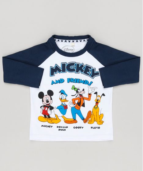 7559793a08 Camiseta Infantil Turma do Mickey Raglan Mickey Manga Longa Gola ...