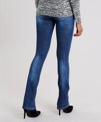 a4ca93915 Calça Jeans Feminina Flare Sawary Cintura Alta Azul Escuro ...