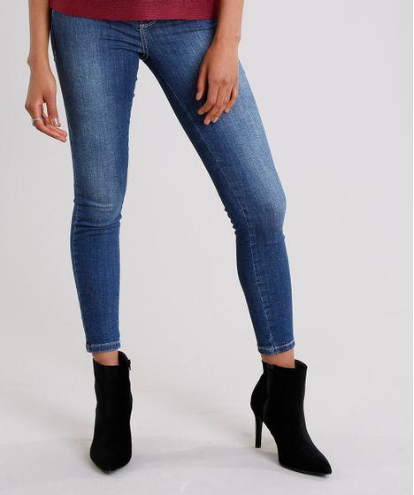d1133833e Calça Jeans Feminina Super Skinny Modela Bumbum Sawary com Strass ...