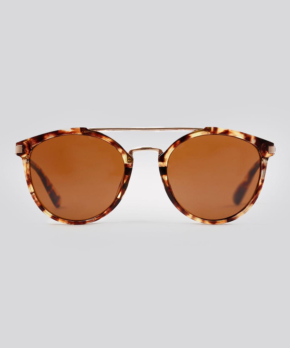 Óculos de Sol Redondo Feminino Oneself Tartaruga - ceacollections 43227e26eb