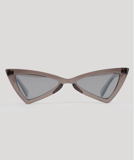 Óculos de Sol Gatinho Cool Future Feminino Oneself Cinza - cea 2e8f5130b2