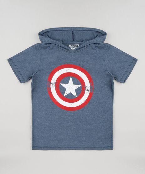 Camiseta-Infantil-Capitao-America-com-Capuz-Manga-Curta-Azul-9148716-Azul_1